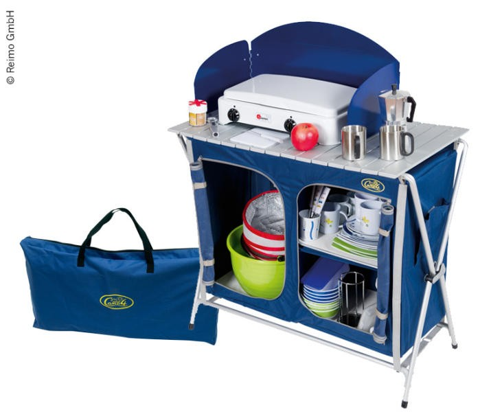 mueble, cocina, camping, quick